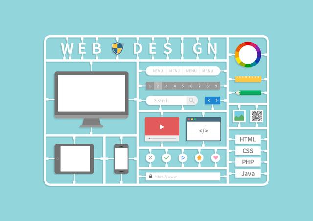 WEBデザインを構成する要素の図
