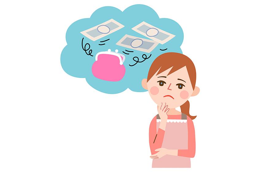 お金に悩む女性をイメージ
